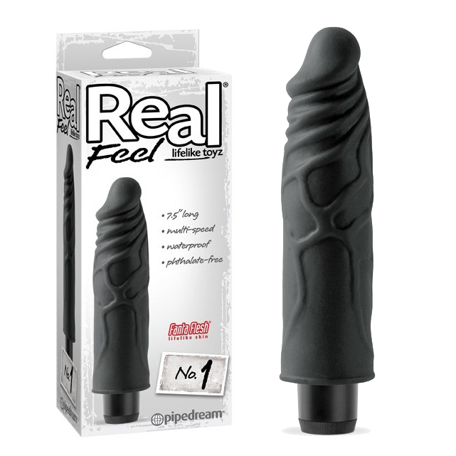 Вибратор Real Feel Lifelike Toyz No. 1 - Black (Real Feel Lifelike Toy...